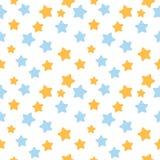 Gwiazdowy wzór w błękita i pomarańcze kolorach Royalty Ilustracja