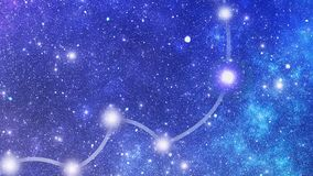 Gwiazdozbiór Hydrae (Hya) ilustracja wektor