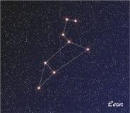 Gwiazdozbiór Leon Obrazy Stock