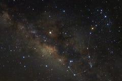 Gwiazdozbiór Scorpius i milky sposobu galaxy obrazy stock