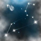 Gwiazdozbiór szyldowe jaskrawe gwiazdy w kosmosach royalty ilustracja