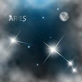 Gwiazdozbiór szyldowe jaskrawe gwiazdy w kosmosach ilustracja wektor