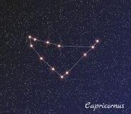 Gwiazdozbioru capricornus Zdjęcia Royalty Free