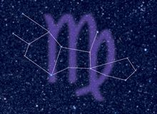 gwiazdozbioru virgo zodiak Ilustracja Wektor