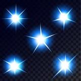 Gwiazdy, światła i błyskają Obrazy Royalty Free