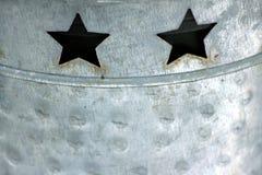 Gwiazdy ciąć out w blaszanej puszce Obraz Stock