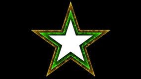 Gwiazdy 043 Czarny tło - Jarzeniowy Neonowy Kolorowy - royalty ilustracja