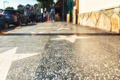 Gwiazdy Hollywoodu na spacerze sława w Los Angeles, Kalifornia Obraz Stock