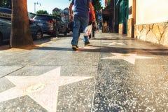 Gwiazdy Hollywoodu na spacerze sława w Los Angeles, Kalifornia Obrazy Royalty Free