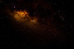 Gwiazdy i galaxy nieba nocy astronautyczny tło Obraz Royalty Free