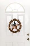 Gwiazdy i lampasa kraju drzwi Patriotyczny wianek Zdjęcie Royalty Free