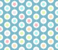 Gwiazdy inside okrąża bezszwowego wzór w nowożytnym Obrazy Stock