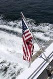 Gwiazdy & lampasy zaznaczają na stern łódź Obrazy Stock