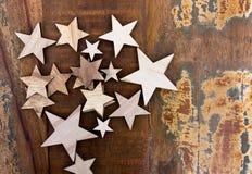 Gwiazdy na drewnianym stole zdjęcia stock