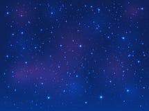 Gwiazdy na niebieskiego nieba tle ilustracji