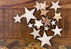 Gwiazdy na rocznika stole obrazy royalty free