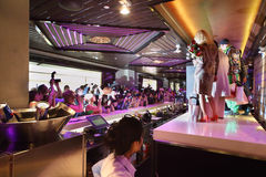 Gwiazdy na scenie przy prezentacją Lena Lenina Grają główna rolę Obrazy Stock