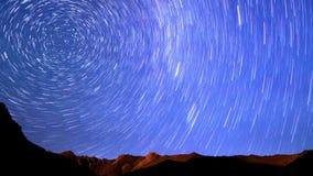 Gwiazdy nad górami linia Czasu upływ 4K zbiory wideo