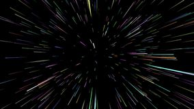 Gwiazdy przestrzeni łoktuszy prędkość przez galaktyki 4K royalty ilustracja