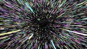 Gwiazdy przestrzeni łoktuszy prędkość przez galaktyki 4K ilustracja wektor
