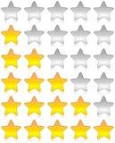 gwiazdy ratingowa ankieta Obrazy Royalty Free