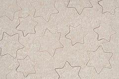 Gwiazdy rysuje w piasku Fotografia Royalty Free