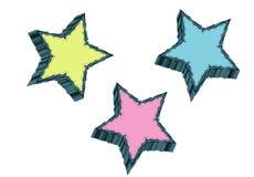 gwiazdy trzy Obraz Royalty Free