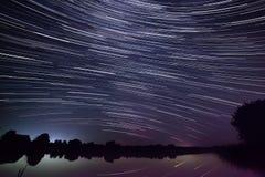 Gwiazdy w nocnym niebie Zdjęcie Royalty Free