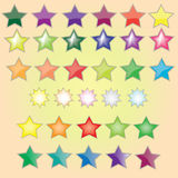 Gwiazdy w prostym występie Obraz Royalty Free