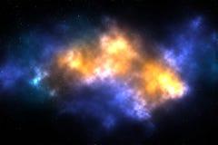 Gwiazdy w Wszechrzeczych galaktykach kolorowych Obrazy Stock