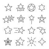 Gwiazdy wykładają ikona set Zdjęcia Stock