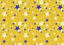 gwiezdny tła żółty Obrazy Stock
