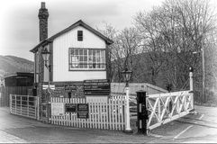Gwilli station and signal box Royalty Free Stock Images