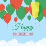 Gwinea dnia niepodległości mieszkania kartka z pozdrowieniami Obrazy Stock