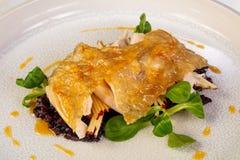 Gwinei ptactwo z ryż zdjęcie stock