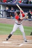 Gwinnet Braves колотит Joey Terdoslavich Стоковое Фото
