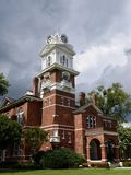 Gwinnett County Courthouse. This is a Summer picture of historic Gwinnett County Courthouse under threatening skies, located in Lawrenceville, Georgia in stock images
