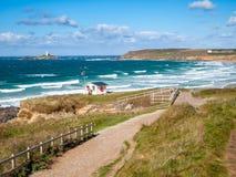 Gwithian Cornwall Engeland stock afbeelding