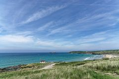 A Gwithian Summer. A view across the beach at Gwithian in the summer royalty free stock image
