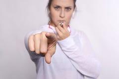 gwizd kobieta Fotografia Stock