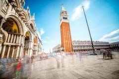 główny plaza Wenecji Fotografia Royalty Free