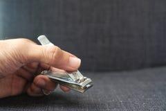 Gwoździ cążki dla ręka manicure'u Obraz Royalty Free