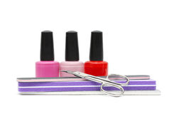 Gwoździa połysk opieka i. Manicure lub pedicure Zdjęcia Royalty Free