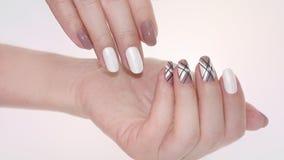 Gwoździa projekt Manicure'u gwoździa farba Fotografia Royalty Free