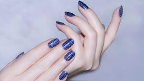 Gwoździa projekt Manicure'u gwoździa farba Obrazy Stock