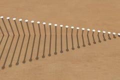 gwoździa rząd ilustracja wektor