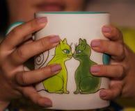 Gwoździe - filiżanka herbata Fotografia Stock