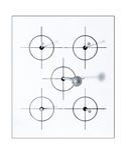 gwoździa cel Zdjęcia Royalty Free