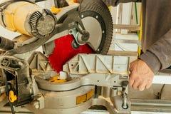 gwood i piłowania maszyny budowy pomysłów pojęcie Fotografia Royalty Free