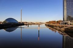 The river Clyde on a lovely morning royalty free stock photos